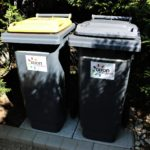 Bacs ordures reduite